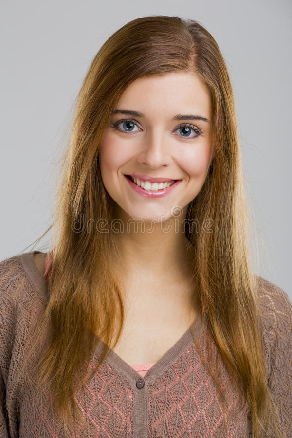 Smiling young woman royalty free stock photos