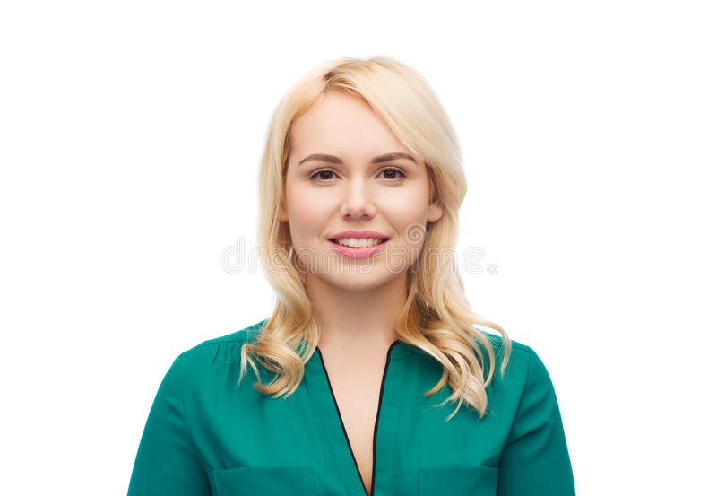 Smiling young woman portrait royalty free stock image