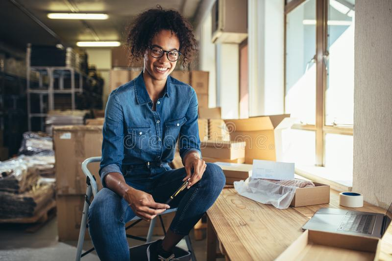 Confident online business owner stock photos