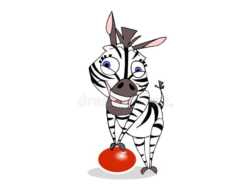 Download Smiling zebra stock illustration. Illustration of black - 3784741