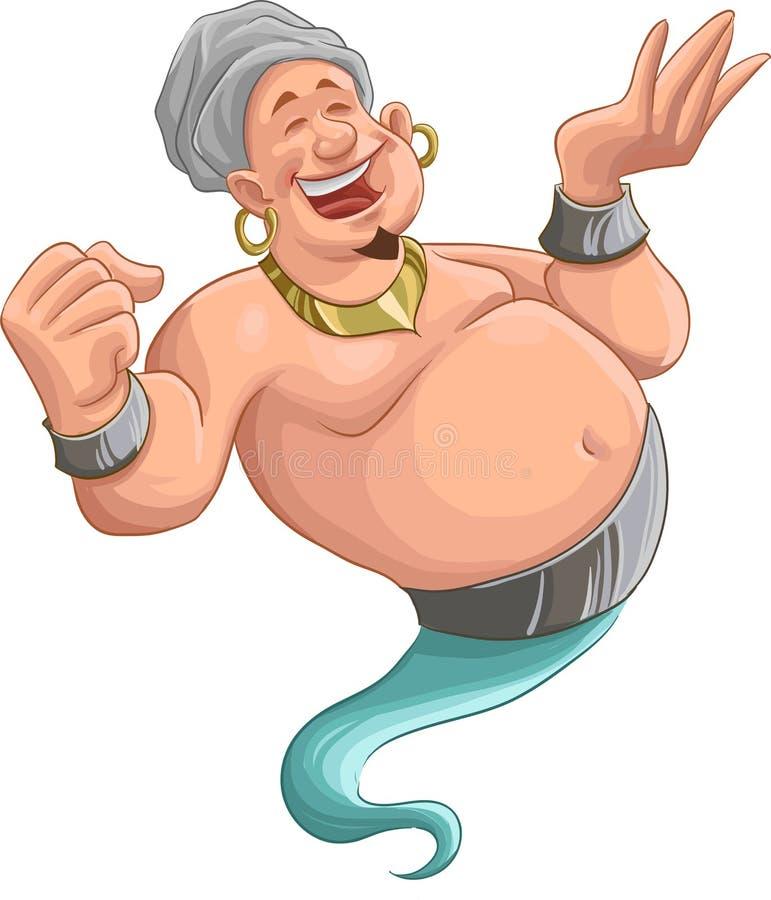 Smilley genie stock illustration
