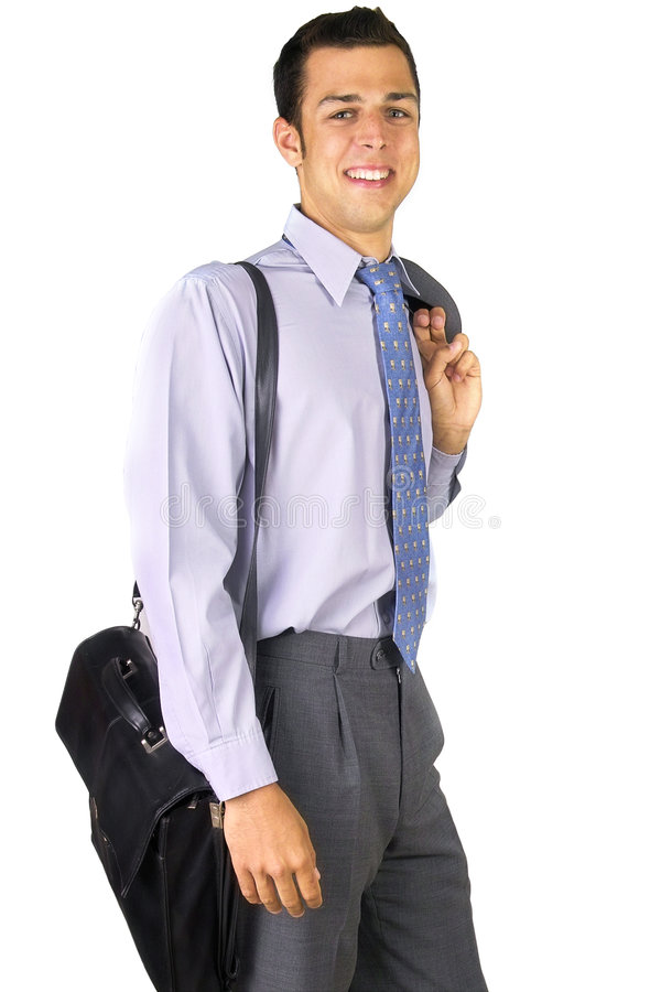 Download Smilling business man stock photo. Image of advertisement - 196470