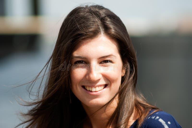 Download Smilling girl portrait stock image. Image of brunette - 15016565