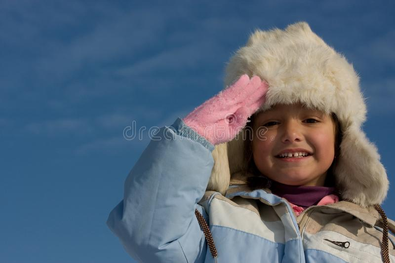 Download Smilling Girl Winter Portrait In The Fur-cap Stock Photo - Image of portrait, person: 8297556