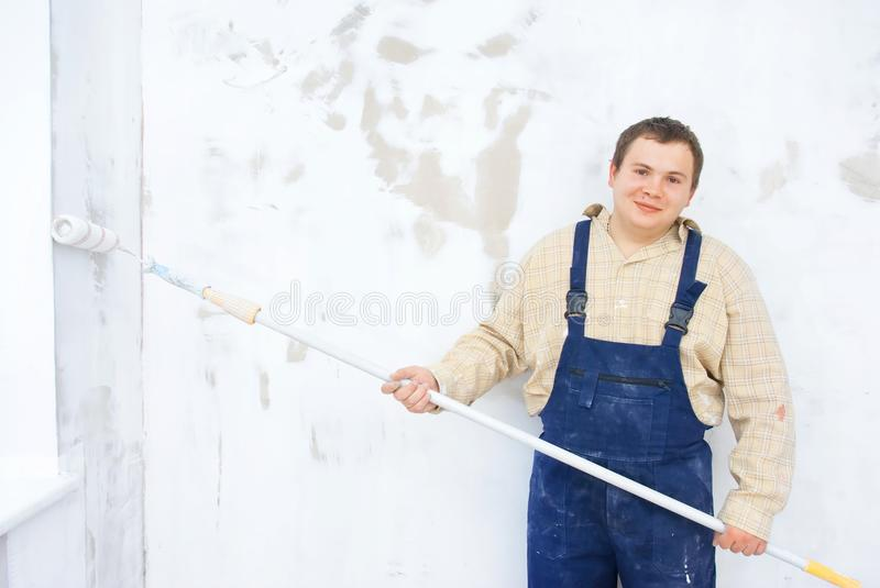 Smilling Portrait Of Student Painter Stock Photography