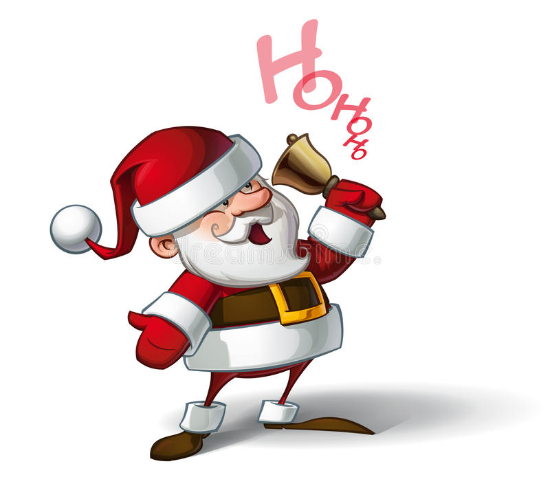 Smilling Santa - Ho Ho Ho illustration de vecteur