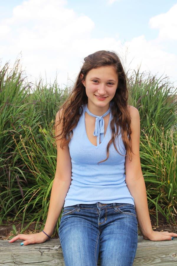 Smilng Tonåring Arkivfoton
