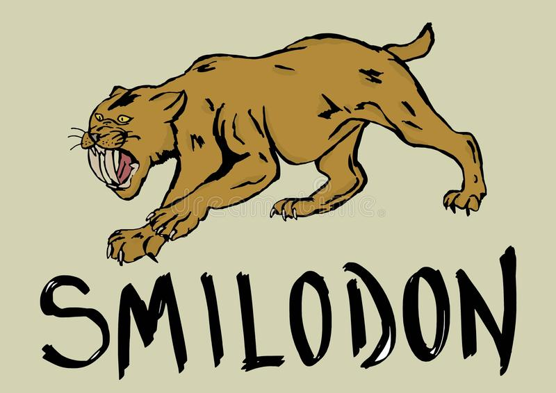 Smilodon vector illustratie
