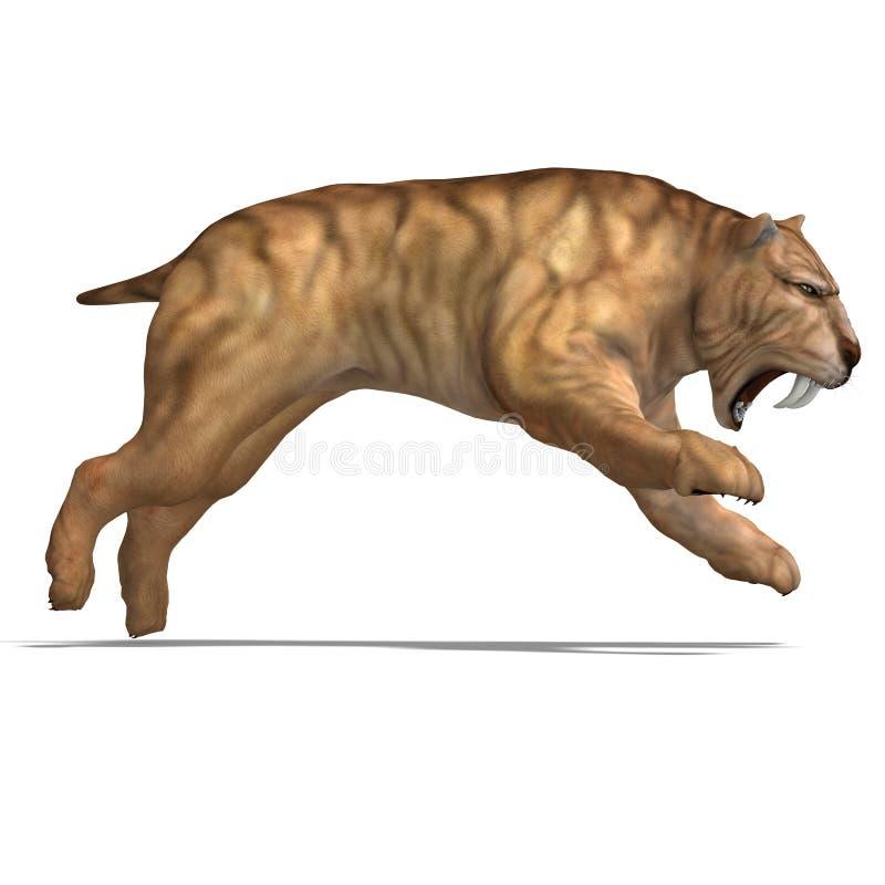 smilodon de dinosaur illustration de vecteur