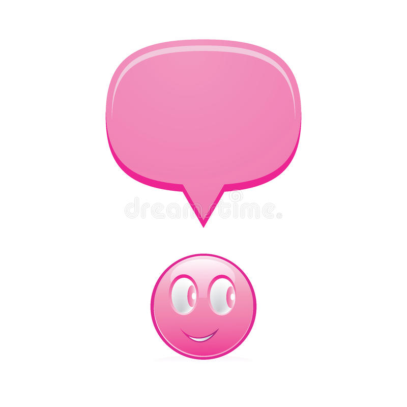 Download Smily with bubble stock vector. Image of speech, button - 17375329