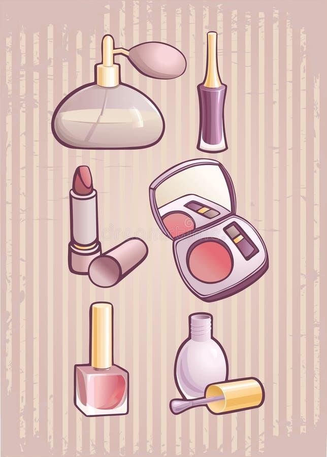 smink royaltyfri illustrationer