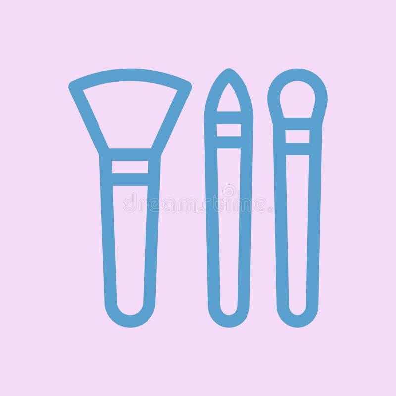 Sminket borstar symbolsvektordesign stock illustrationer