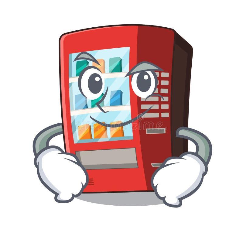 Smirking Automat lokalisiert mit dem Maskottchen lizenzfreie abbildung