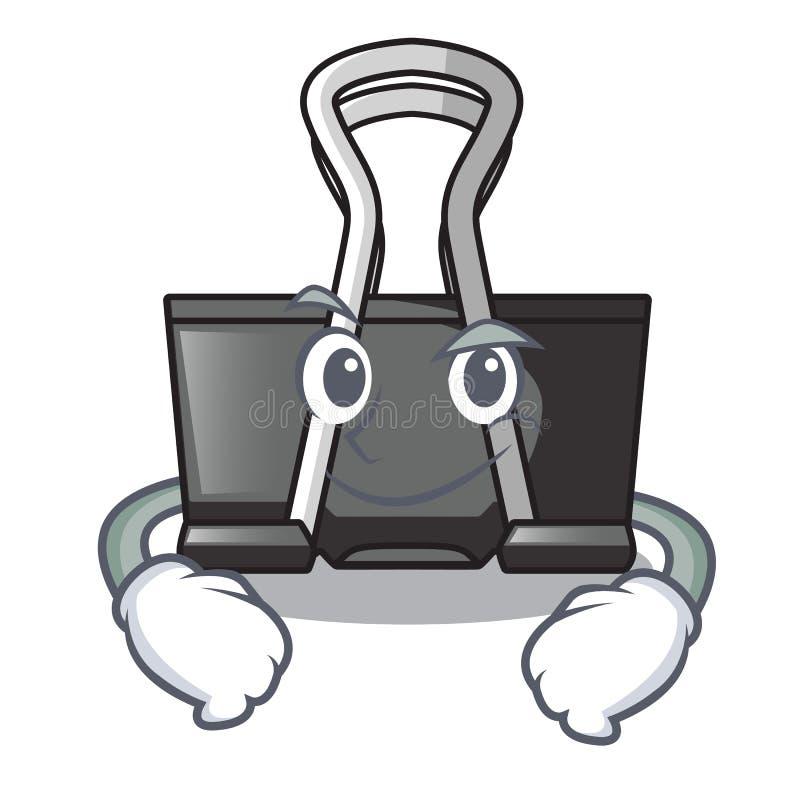 Smirking binder clip isolated on the cartoon. Vector illustration royalty free illustration