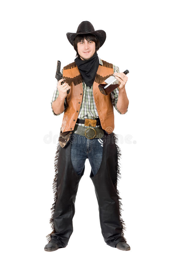 Download Smirking cowboy with a gun stock photo. Image of american - 29989236