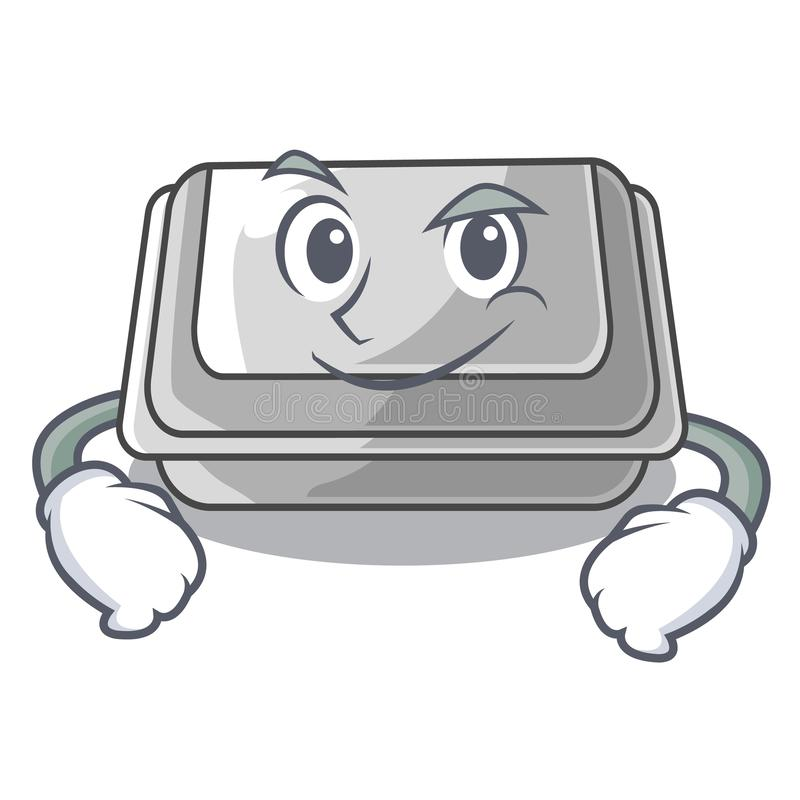 Smirking plastic box in the mascot shape. Vector illustration vector illustration