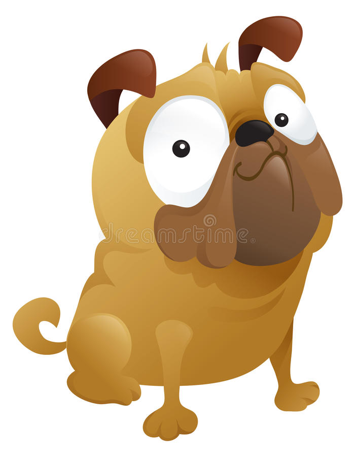Download A Smirking Pug Dog stock vector. Image of smirk, small - 16766157