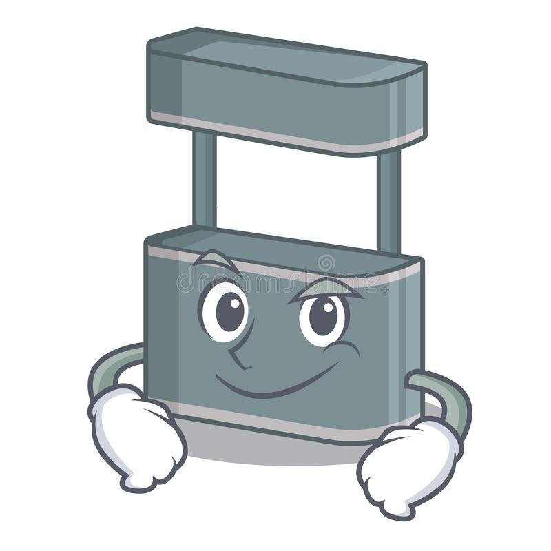 Smirking trade stand in the character shape. Vector illustraton stock illustration