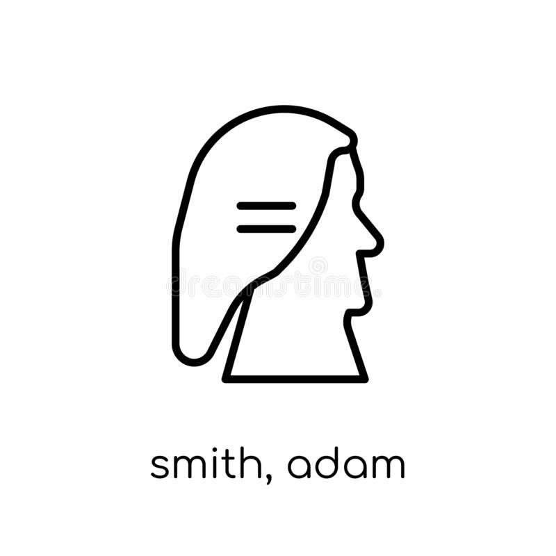 Smith, icono de Adán  stock de ilustración