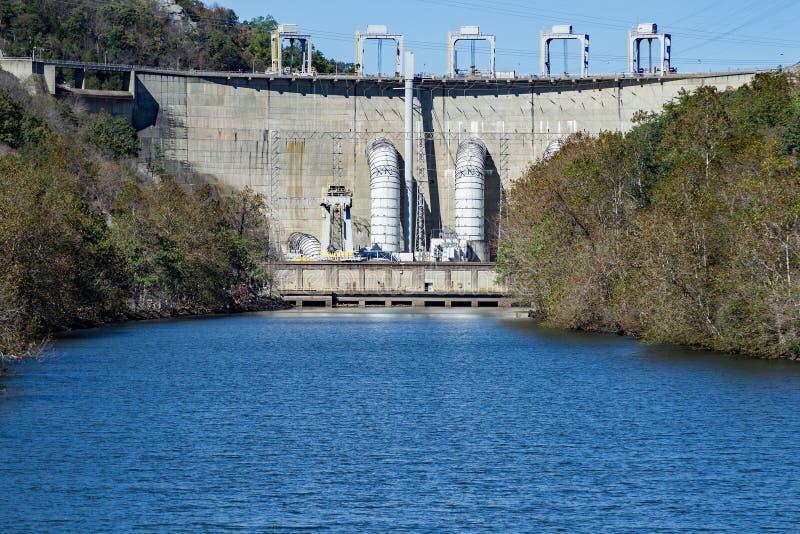 Smith Mountain Dam, Penhook, VA, USA. Smith Mountain Dam is a 636-megawatt storage hydroelectric facility located on Smith Mountain Lake, Penhook, Virginia, USA royalty free stock photo