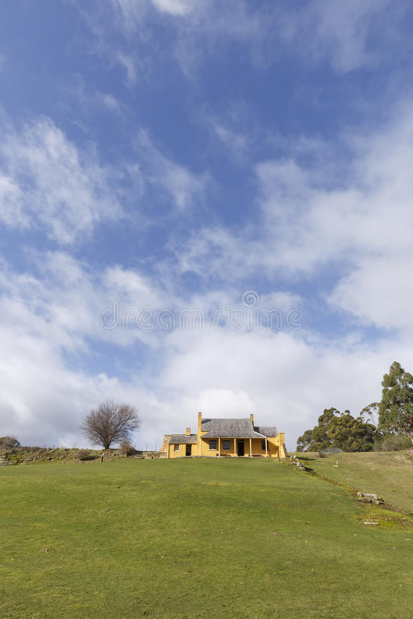 Smith O'Briens Cottage, Tasmania's Port Arthur Historical Site. Australia royalty free stock photography