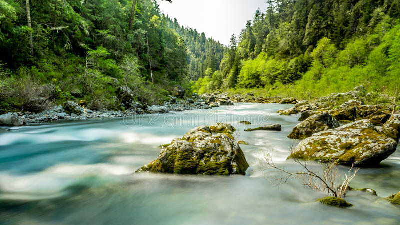 Smith River. The beautiful Smith River in Del Norte County, California, USA royalty free stock image