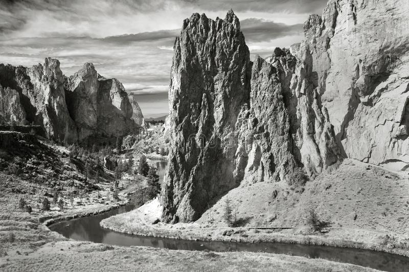 Smith Rock State Park Cental Oregon arkivfoto