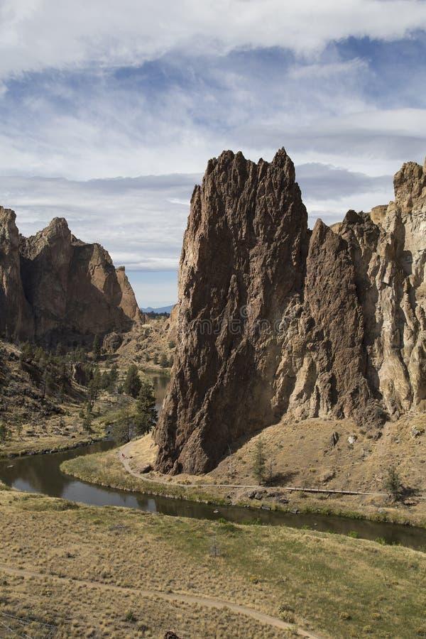 Smith Rock State Park, Centraal Oregon stock afbeeldingen