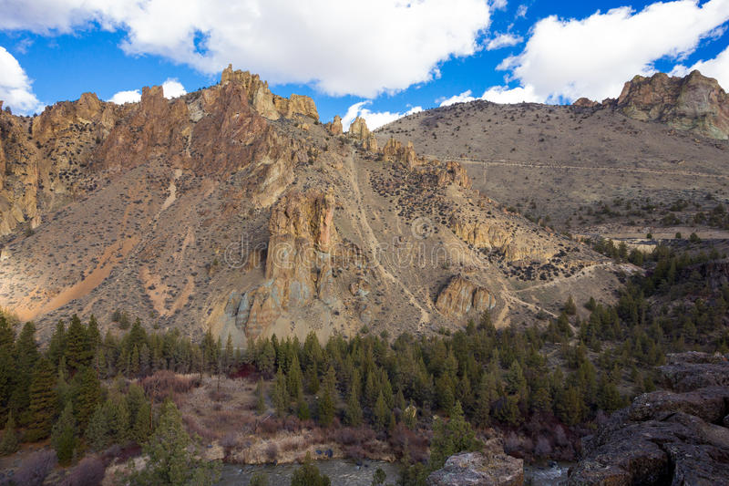 Smith Rock State Park in Oregon stock image