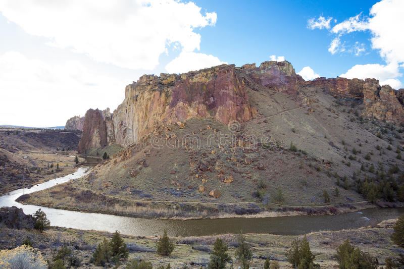Smith Rock State Park in Oregon royalty free stock photography
