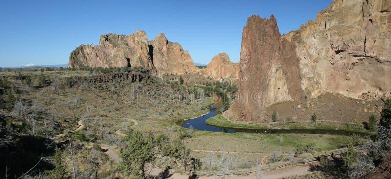 Smith Rock State Park - Terrebonne, Oregon royalty-vrije stock foto