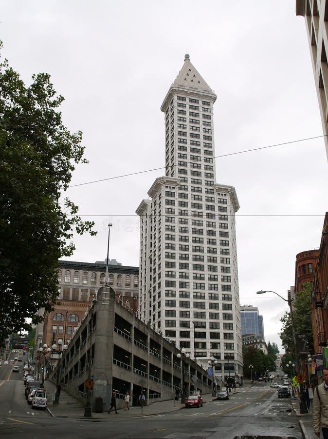 Smith Tower-Gebäudegasthaus Seattle lizenzfreie stockfotografie