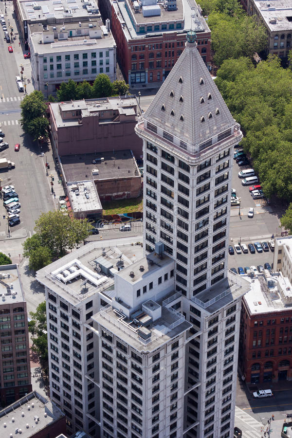 Smith Tower in Seattle stock image