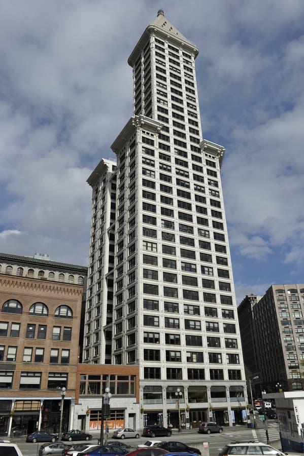 Smith Tower, Seattle, USA stockfotos