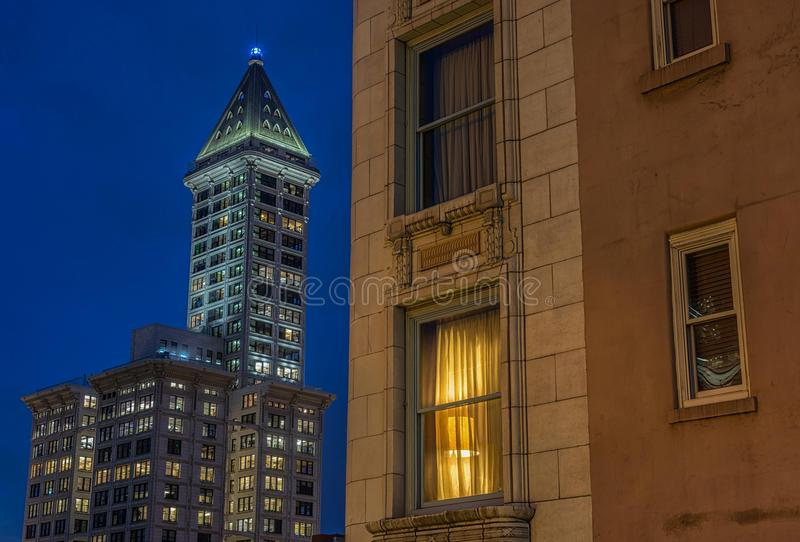 Smith Tower, Seattle, Wa USA stockbilder