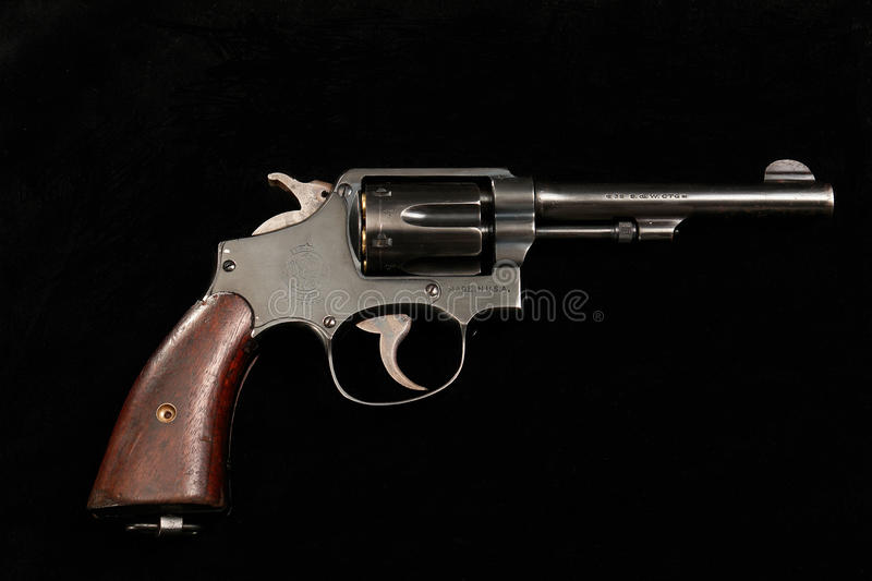 Smith & Wesson . 38-200 Lend lease revolver WWII royalty free stock photography