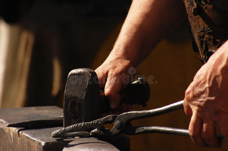 Smith at work royalty free stock photo
