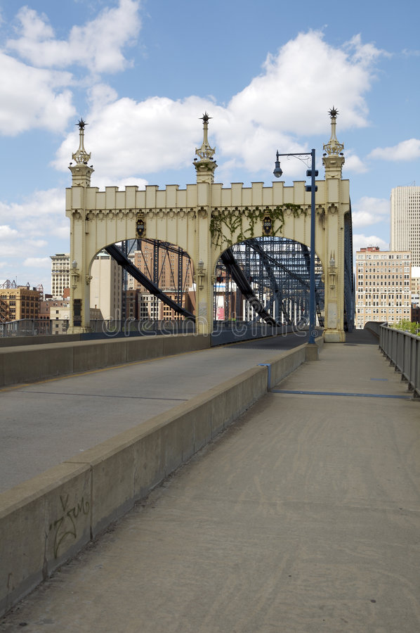 Smithfield Street Bridge royalty free stock image