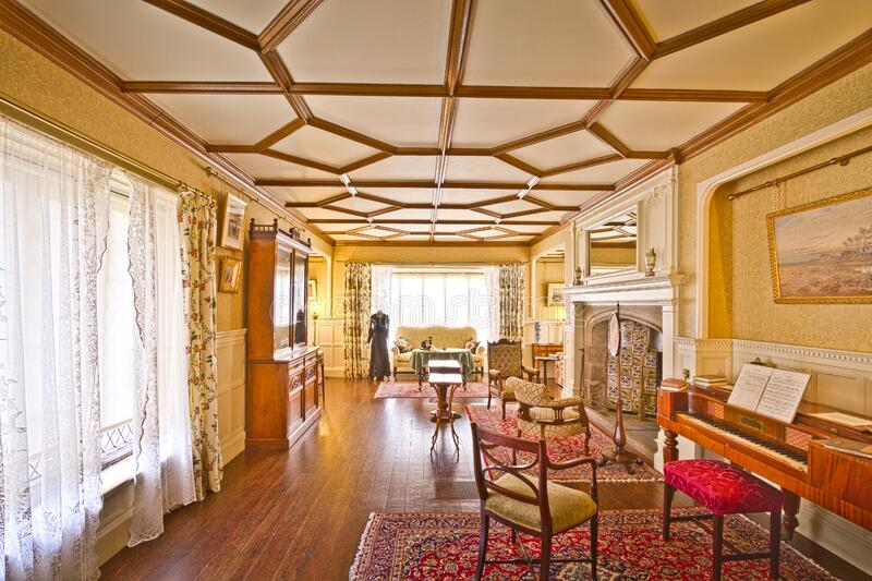 Smithills Hall Mrs Ainsworths Drawing Room royalty free stock photography
