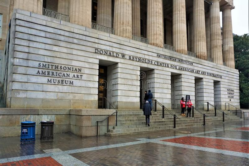 Smithsonian Amerikaans Art Museum in Washington DC stock afbeeldingen