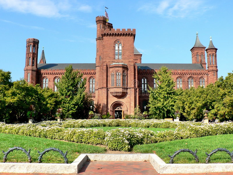 Smithsonian Anstalts-Schloss lizenzfreie stockbilder