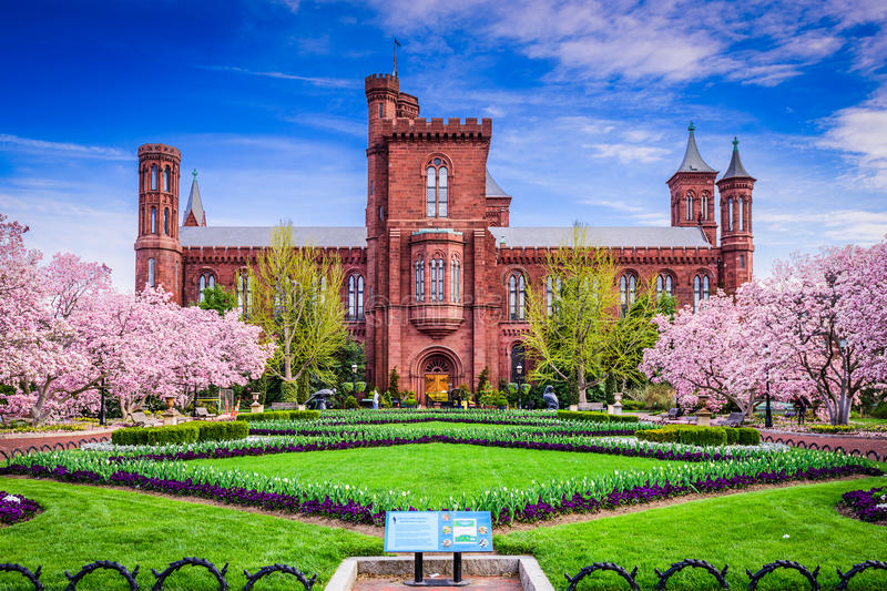 Smithsonian Building royalty free stock photos