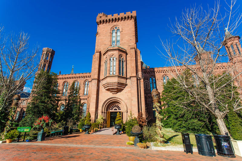 Smithsonian Institution Castle stock image