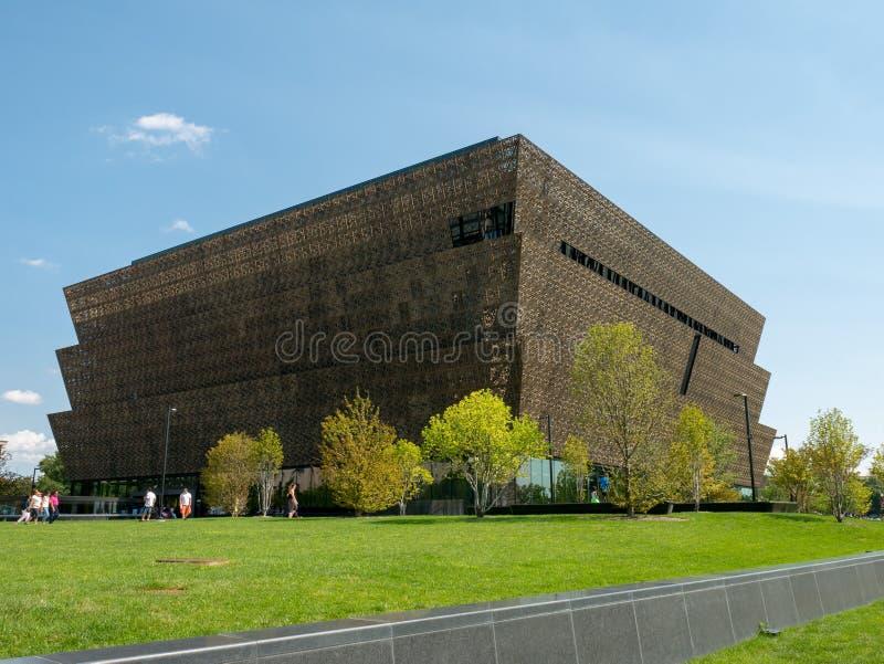 Smithsonian Nationaal Museum van Afrikaanse Amerikaanse voltooide Geschiedenis en Cultuur stock foto's
