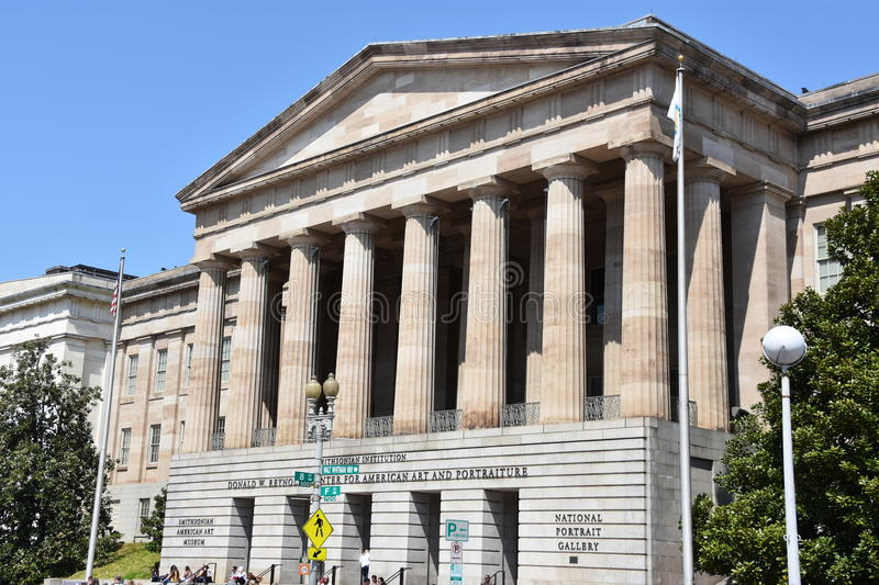 Smithsonian National Portrait Gallery in Washington DC stock image