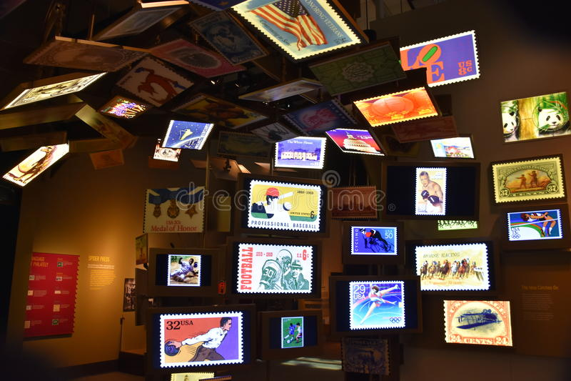 Smithsonian nationellt post- museum i Washington DC royaltyfria bilder