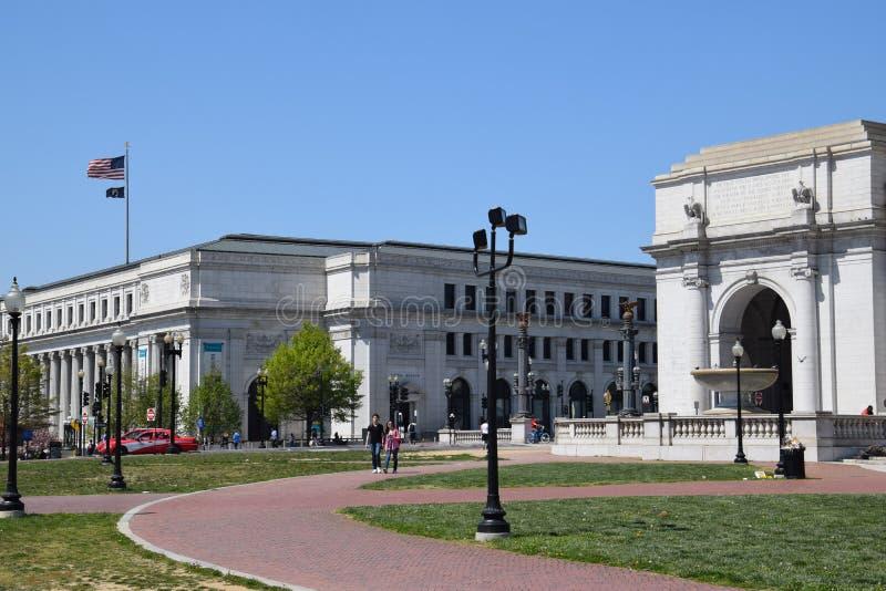 Smithsonian nationellt post- museum, Washington, DC arkivfoto
