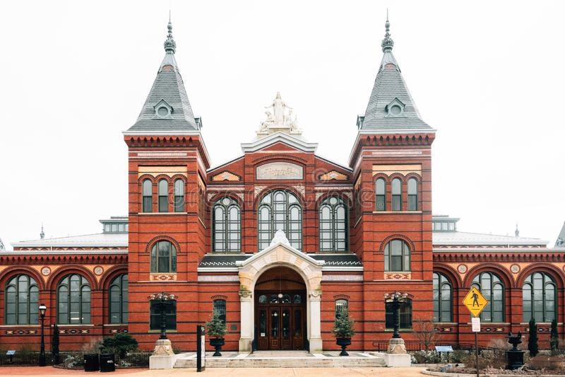 Smithsonian przemysły i, przy national mall w Waszyngton, DC zdjęcie stock