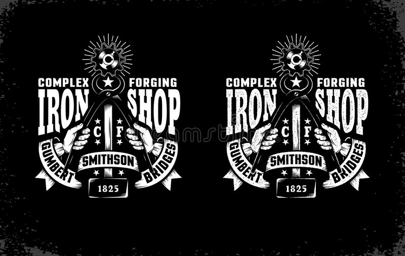 Smithy emblemat royalty ilustracja