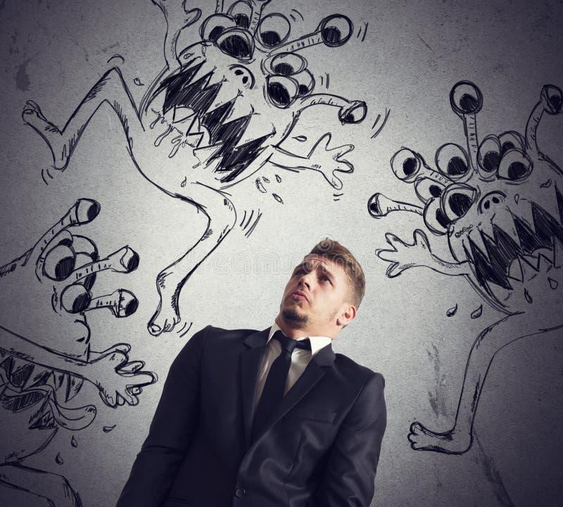 Smitta av viruset royaltyfri illustrationer